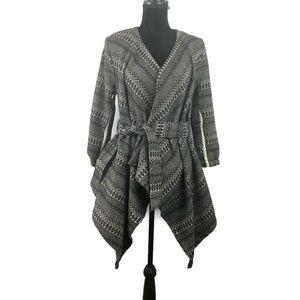 Jack Sweater Jacket Brown Tie Waist